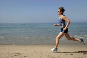 Corrida na praia.