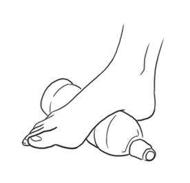 Massagem na sola dos pés.