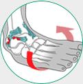 icone ilustrativo para entorse de tornozelo